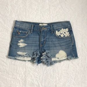 Abercrombie Kids Distressed Jean Shorts